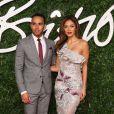 """Lewis Hamilton et sa fiancée Nicole Scherzinger - Soirée des """"British Fashion Awards"""" à Londres. Le 1er décembre 2014"""