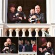 Le prince Jacques et la princesse Gabriella sont apparus au balcon du palais princier avec la princesse Charlene et le prince Albert II de Monaco lors du défilé militaire de la Fête nationale monégasque, le 19 novembre 2015.