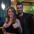 Emilie, gagnante de  Secret Story 9  et son frère Loïc, le 14 novembre 2015, dans les coulisses de la finale.