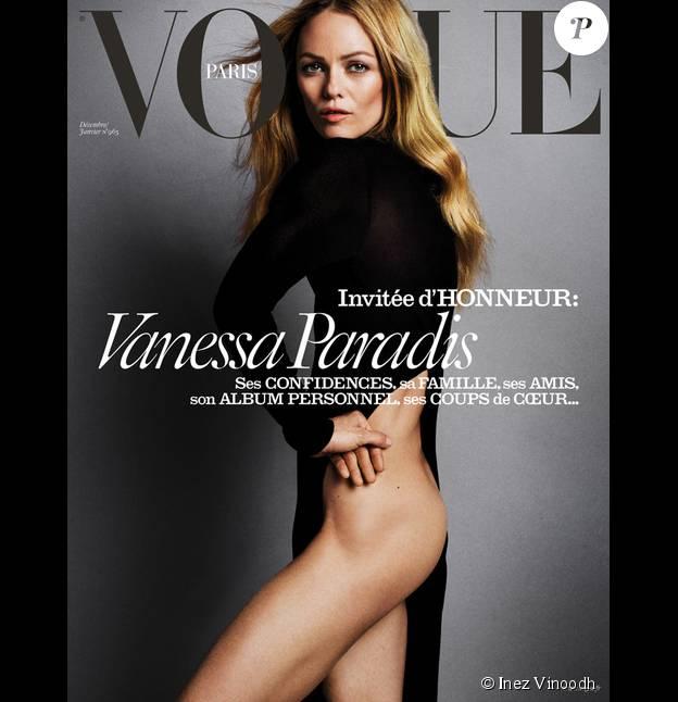La couverture du magazine Vogue Paris - édition décembre 2015-janvier 2016. Photographie Inez Vinoodh