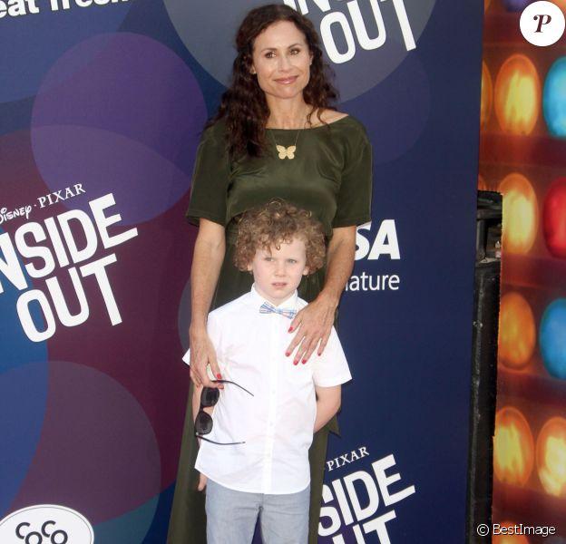 """Minnie Driver et son fils Henry - Avant-première du film """"Inside Out"""" à Hollywood, le 8 juin 2015."""