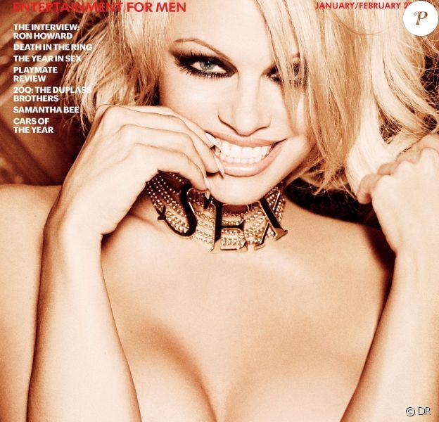 Pamela Anderson en couverture de Playboy, janvier-février 2016.