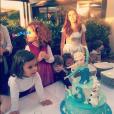 Emilie Nef Naf célèbre l'anniversaire de sa petite Maëlla, trois ans. Novembre 2015.