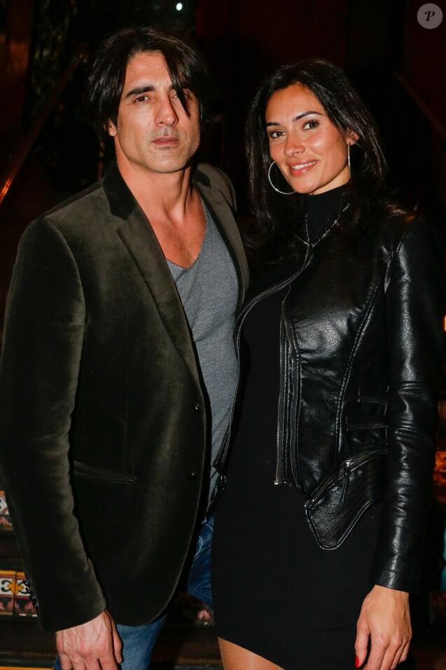 Grégory Basso et sa compagne au Buddha-Bar à Paris, le 24 février 2015.
