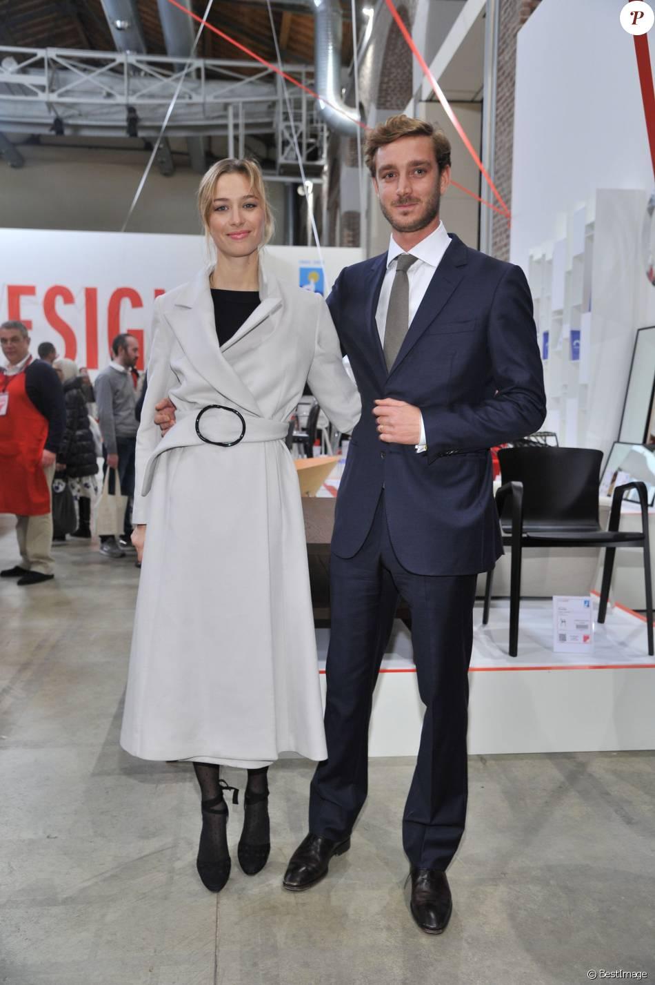 """Pierre Casiraghi et sa femme Beatrice Borromeo - Inauguration de l'exposition """"Love Design"""" à Milan le 10 décembre 2015."""