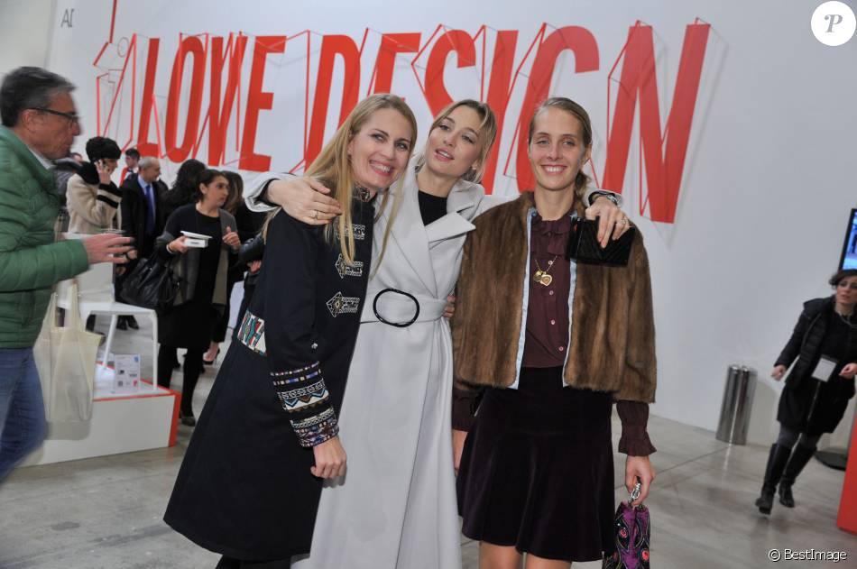 """Isabella Borromeo, Beatrice Borromeo et Matilde Borromeo - Inauguration de l'exposition """"Love Design"""" à Milan le 10 décembre 2015."""