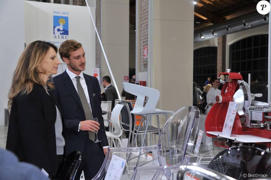 """Marina Borromeo et Pierre Casiraghi - Inauguration de l'exposition """"Love Design"""" à Milan le 10 décembre 2015."""