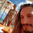 Zoe Saldana tout sourire lors de ses vacances au Mexique avec son mari Marco Perego / photo postée sur le compte instagram de l'actrice américaine, le 16 décembre 2015.