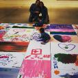 Zoe Saldana, son mari Marco Perego et leurs jumeaux Bowie et Cy / photo postée sur le compte instagram de l'actrice américaine, le 7 décembre 2015.
