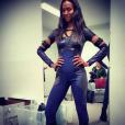 Zoe Saldana sublime dans son costume de Gamora / photo postée sur le compte instagram de l'actrice américaine, le 14 décembre 2015.