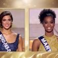 Mis Nord-pas-de-Calais face à Miss Martinique lors de l'élection Miss France 2016 le samedi 19 décembre 2015 sur TF1.