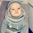 Lyam, fils de Stéphanie Clerbois, est adorable dans sa tenue d'hiver . Novembre 2015.