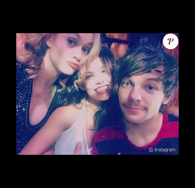 Keelin Woodell aux côtés de sa partenaire de scène Danielle Campbell et son petit-ami supposé Louis Tomlinson des One Direction / Photo postée sur le compte Instagram de Keelin à la fin du mois de novembre 2015.