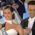 Ariane Quatrefages, lors de l'élection de Miss France 2000, en décembre 1999 sur TF1.