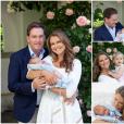 La princesse Madeleine de Suède et son mari Chris O'Neill avec leurs enfants en juillet 2015 lors des vacances de la famille royale à Solliden.