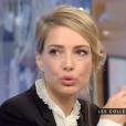 """L'animatrice Sidonie Bonnec confesse avoir été victime de sexisme au bureau. Emission """"C à vous"""" sur France 5. Le 29 décembre 2015."""