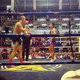 Un match de boxe thaï - Johnny Hallyday en famille en Thaïlande, décembre 2015.