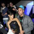 Rihanna et Chris Brown à Paris, en décembre 2008