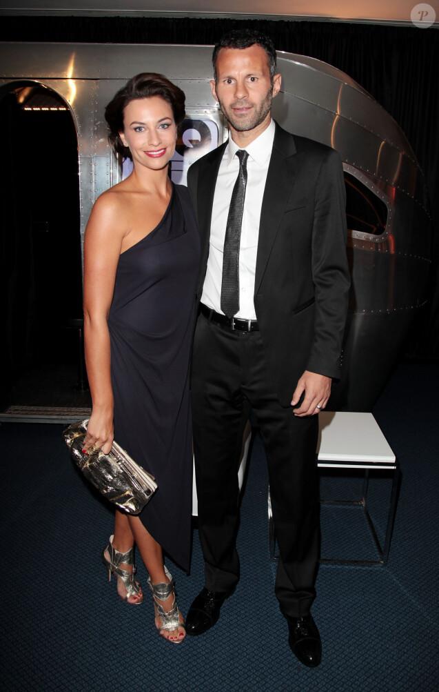 Ryan Giggs et son épouse Stacey lors des GQ Men of the Year Awards à la Royal Opera House de Londres, le 7 septembre 2010