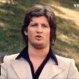 L'animateur Patrick Sébastien, lors de sa première apparition télé en 1975.