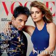 Couverture du VOGUE US du mois de février avec Ben Stiller (Zoolander) et Penelope Cruz, star féminine de ce deuxième volet