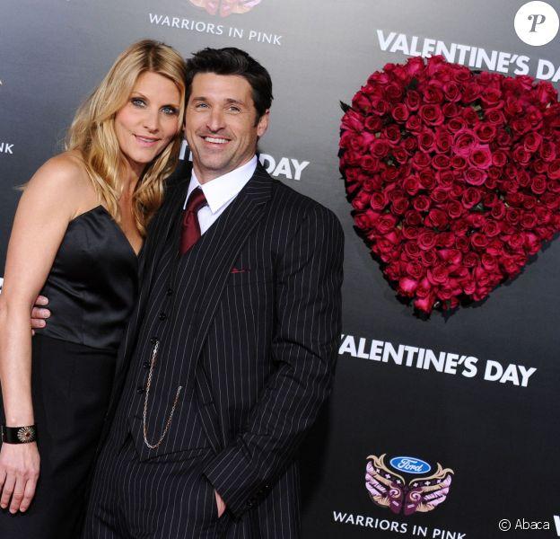 Patrick Dempsey et Jillian Dempsey à Los Angeles, le 8 février 2010.