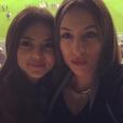 Julia Courtès  aux côtés de sa meilleure amie pour le match OM/Montpellier