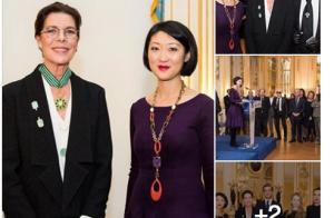 Caroline de Hanovre : Décorée à Paris devant ses quatre enfants, très fiers