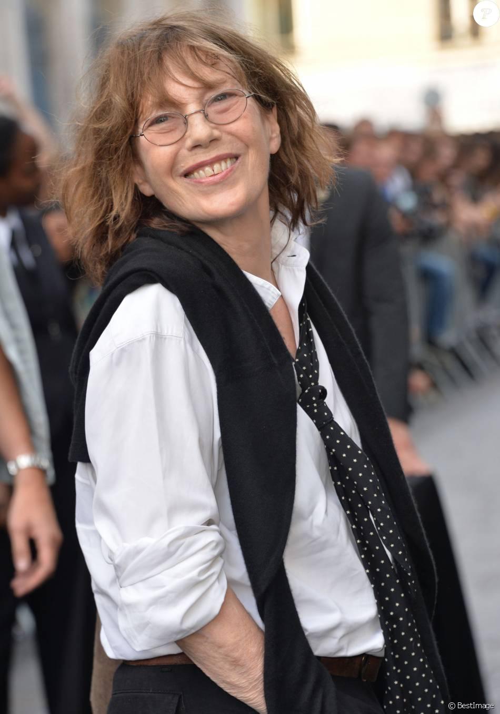 4a7b2ab8456e Jane Birkin - Arrivée des people au défilé Saint Laurent Homme collection  Printemps-Eté 2016