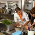 Kévin et Coline dans Top Chef 2016, le lundi 1er février 2016, sur M6
