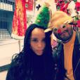 Zoë Kravitz a publié une photo avec son chéri Twin Shadow sur sa page Instagram, au mois de décembre 2015.