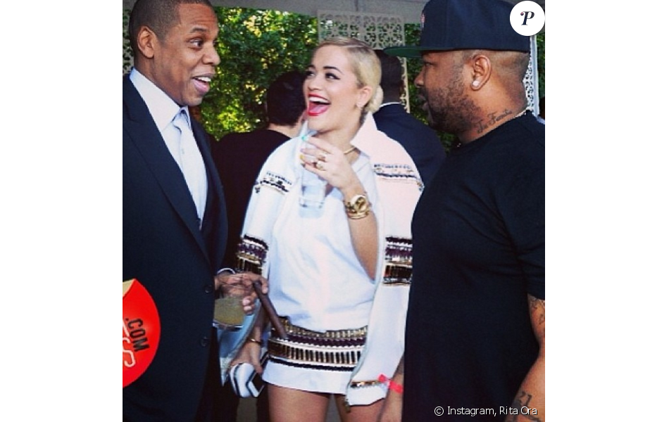 Jay Z, Rita Ora et The-Dream. Janvier 2014.