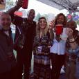 "Jay Z, Rita Ora, Beyoncé et Tyran Smith (dit ""TyTy"") au festival Made in America à Philadelphie. Août 2012."