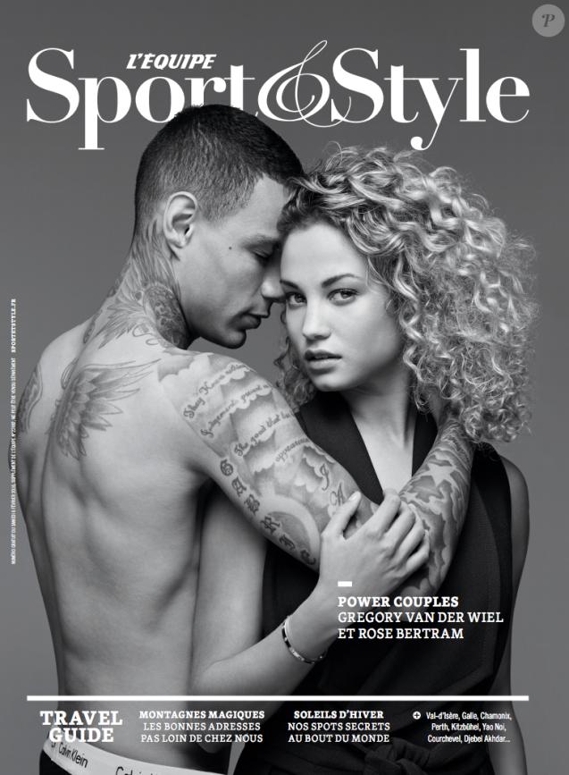 """La couverture du magazine """"Sport & Style"""" avec Gregory Van der Wiel et sa compagne - février 2016"""