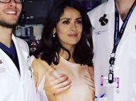 """Salma Hayek """"topless"""" à l'hôpital après un incident"""