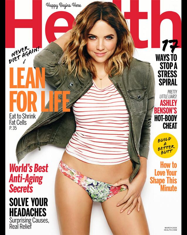 Retrouvez l'intégralité de l'interview d'Ashley Benson dans le magazine Health, en kiosques ce mois-ci.