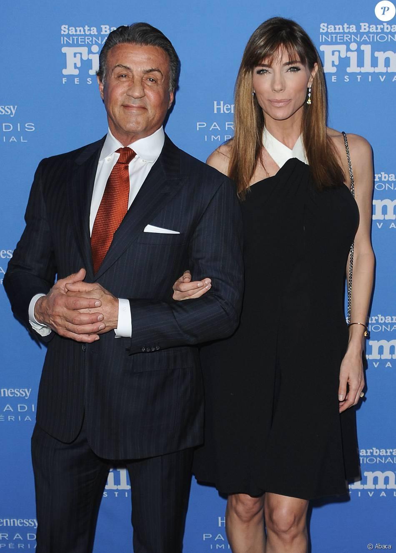 Sylvester Stallone et sa femme Jennifer Flavin - 31e édition du Santa Barbara International Film Festival le 9 février 2016