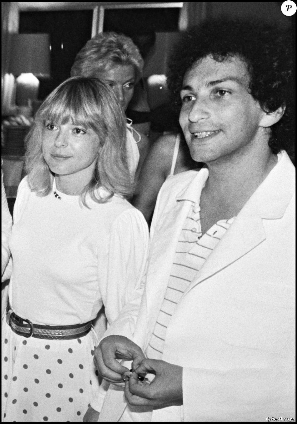 michel berger et france gall la soir e blanche d 39 eddie barclay saint tropez le 21 ao t 1980. Black Bedroom Furniture Sets. Home Design Ideas