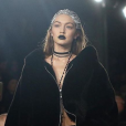 Gigi Hadid lors du défilé de Rihanna, Fenty x Puma, à New York durant la Fashion-Week, le 12 février 2016