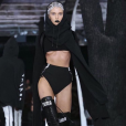 Stella Maxwell lors du défilé de Rihanna, Fenty x Puma, à New York durant la Fashion-Week, le 12 février 2016