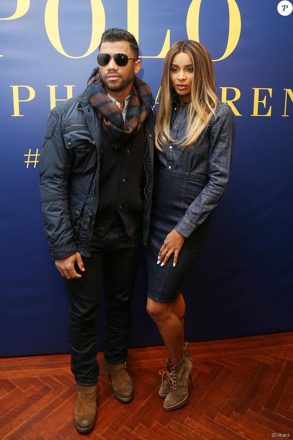 1c4979619dcd1 Russell Wilson et Ciara assistent à la présentation Polo Ralph Lauren  (collections homme et femme automne-hiver 2016-2017) à New York. Le 12  février 2016.