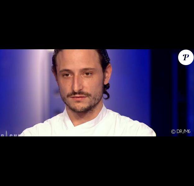 Pierre Meneau éliminé dans Top Chef, sur M6, le lundi 22 février 2016