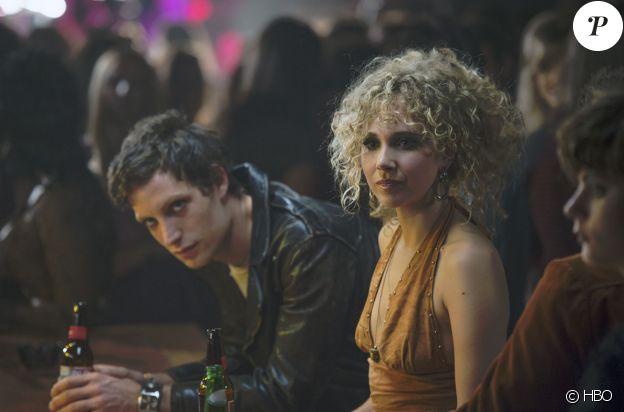 """James Jagger et Juno Temple dans """"Vinyl"""", la série de Terence Winter, Martin Scorsese et Mick Jagger, diffusée par HBO en 2016."""