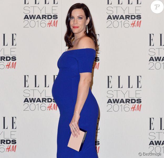 """Liv Tyler enceinte - """"Elle Style Awards 2016"""" au musée Tate Britain. Londres le 23 février 2016."""