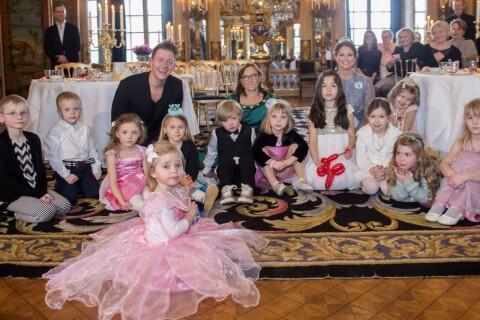 Leonore de Suède et sa maman Madeleine : Costumées pour un goûter féerique