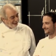"""Pierre Meneau et son père - """"Top Chef 2016"""" sur M6, émission du 15 février 2016."""
