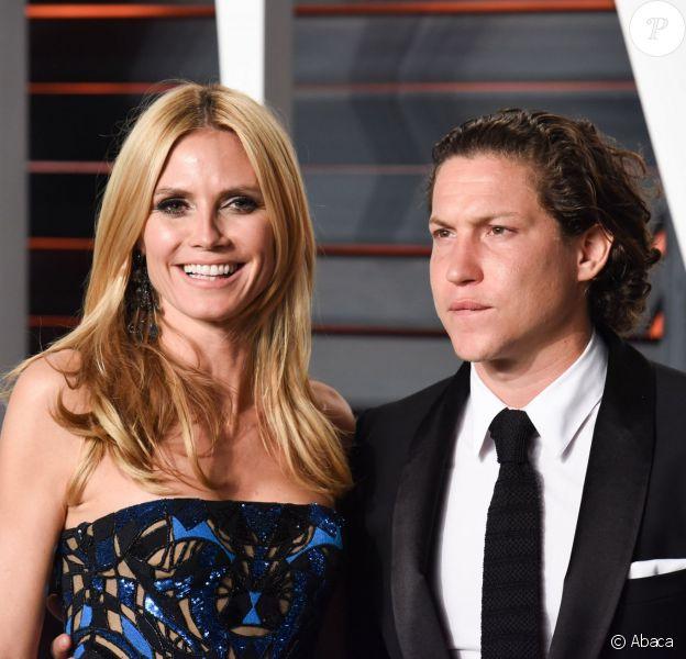 Heidi Klum et Vito Schnable à la soirée des Oscars organisée par Vanity Fair, le 28 février 2016