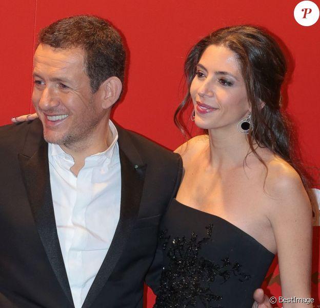 Dany Boon et sa femme Yaël - Photocall au Fouquet's lors de la 40e cérémonie des César à Paris le 20 février 2015