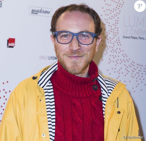 """Marius Colucci lors de l'inauguration de l'exposition """"Lumière! Le cinéma inventé !"""" au Grand Palais à Paris, le 26 mars 2015"""