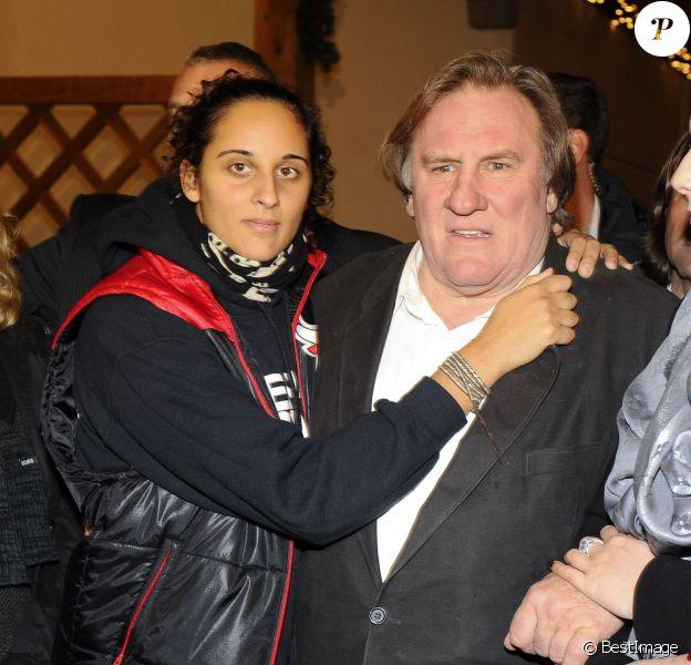 """Gérard Depardieu et sa fille Roxane à l'ouverture du marche de Noel """"Gut Aiderbichl"""" en Henndorf en Autriche le 14 novembre 2013"""